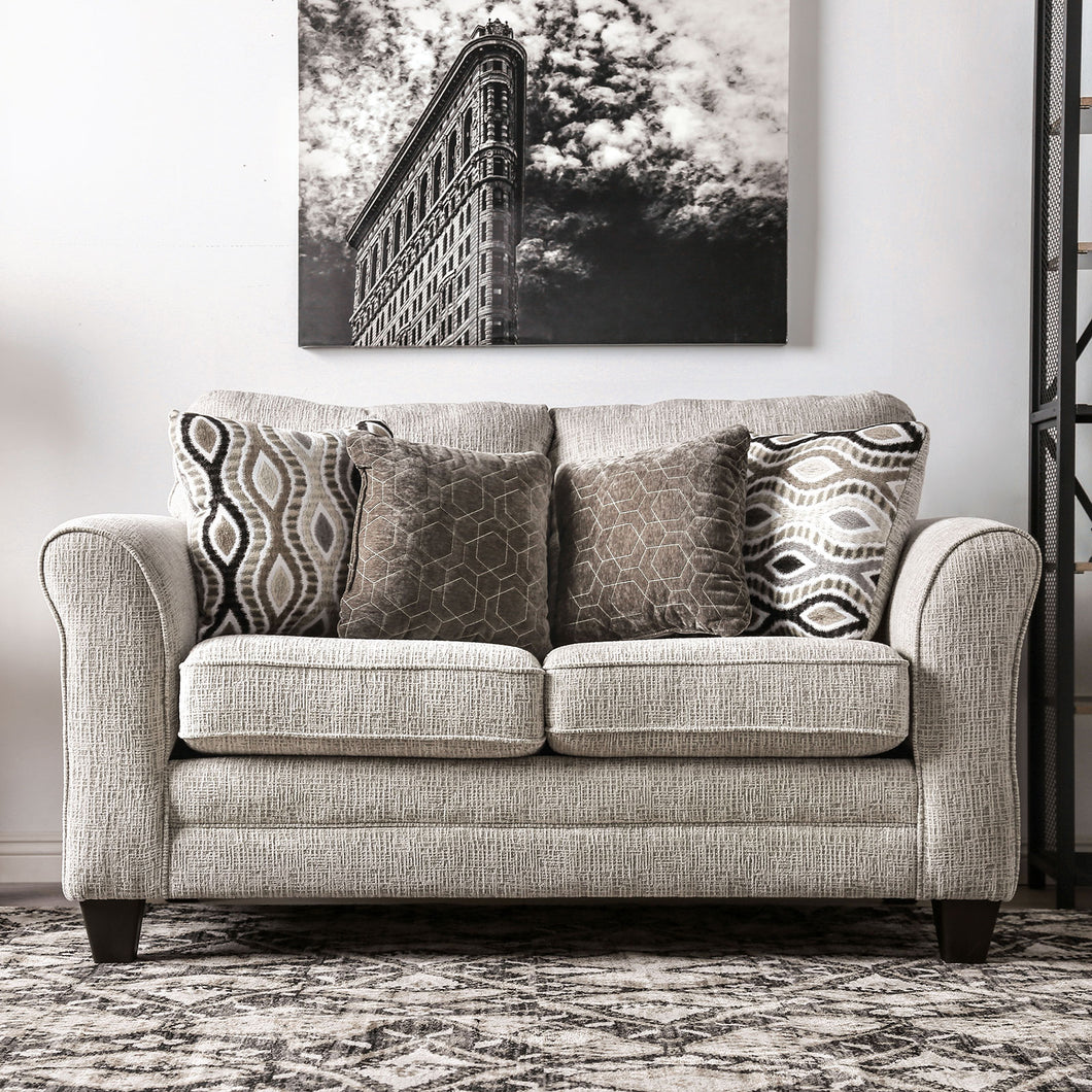 Aleah Light Gray Love Seat