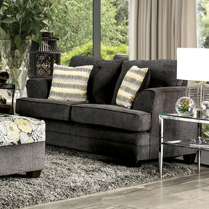 Xochitl Dark Gray Love Seat