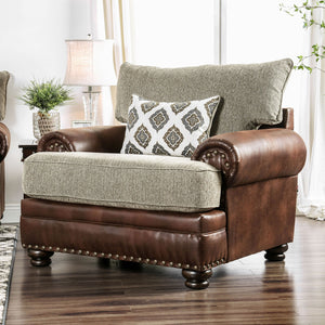 Reyna Warm Gray/Brown Chair