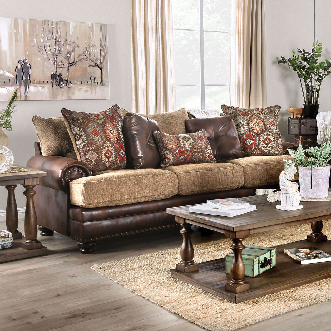 Fletcher Brown/Tan Sofa