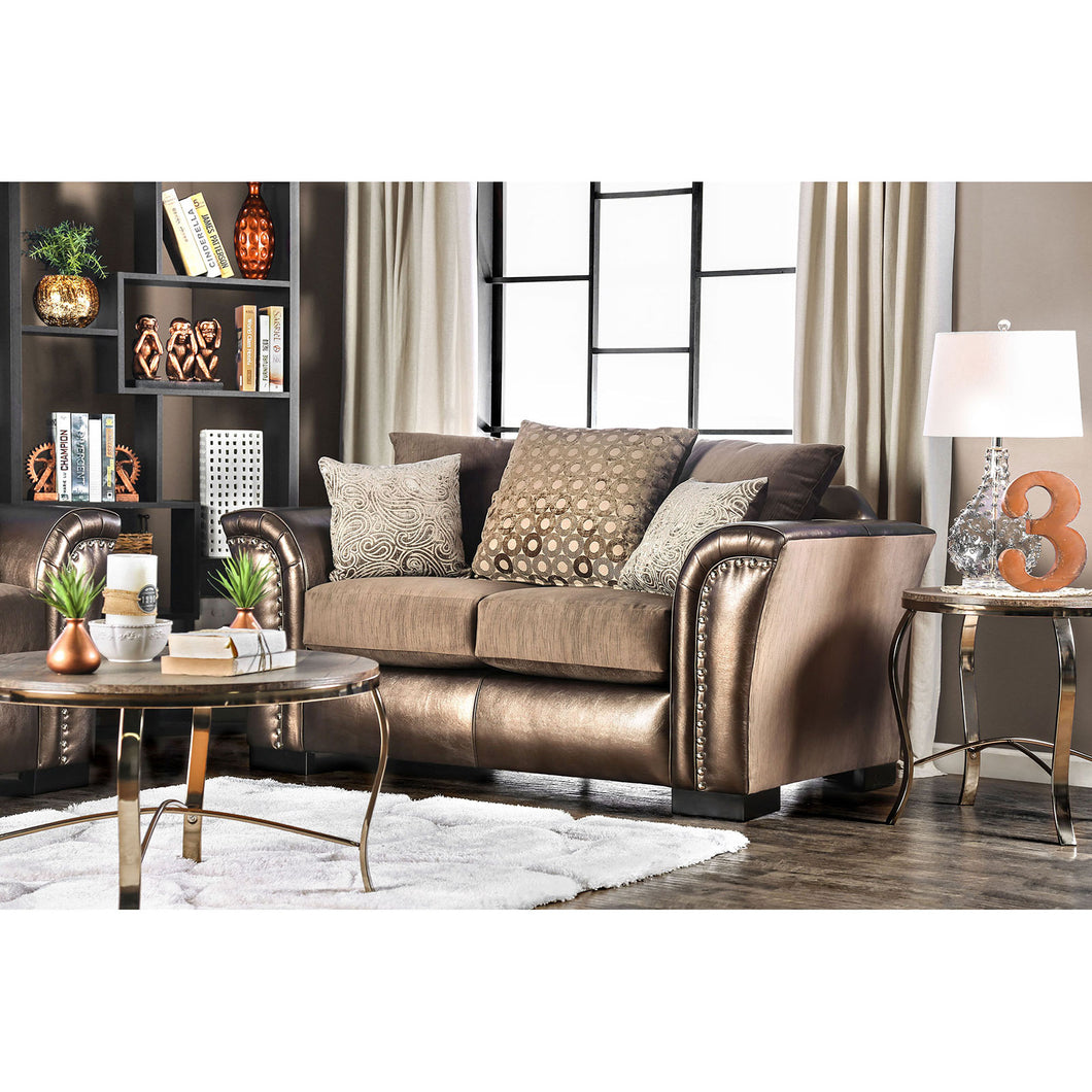 Benigno Brown Love Seat