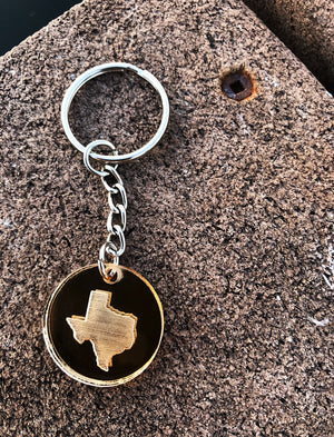 Mirrored State Pendant Keychain