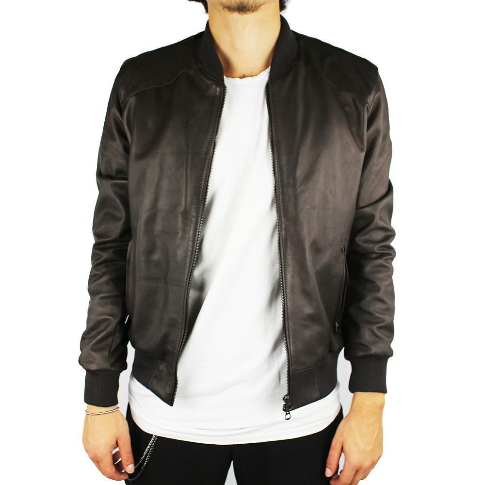 Jacket in Real Leather (Simple in Brown or Black).