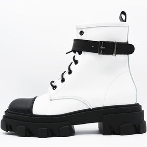 OFF 1029 Low Boot in White & Black.