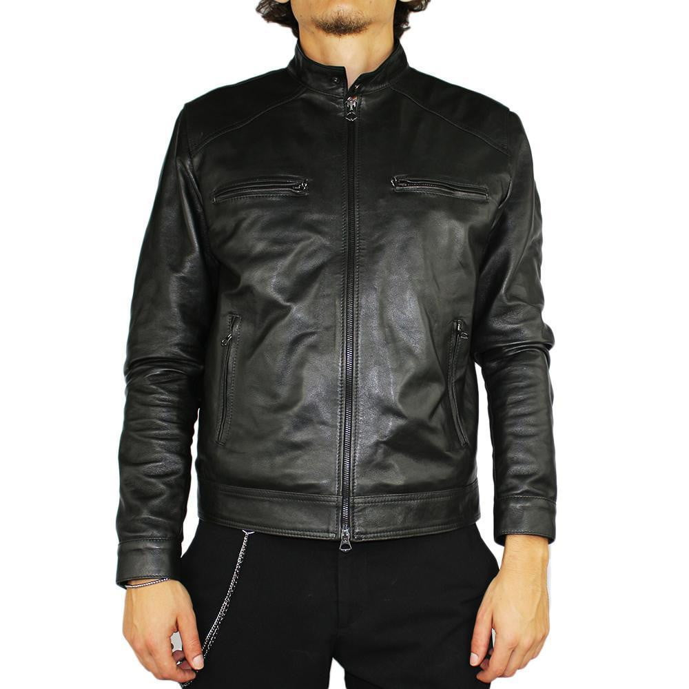 Jacket in Real Leather (Biker in Black or Brown).