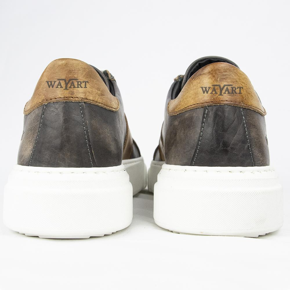 RAF 80174 SNEAKERS IN CHESTNUT & COGNAC.