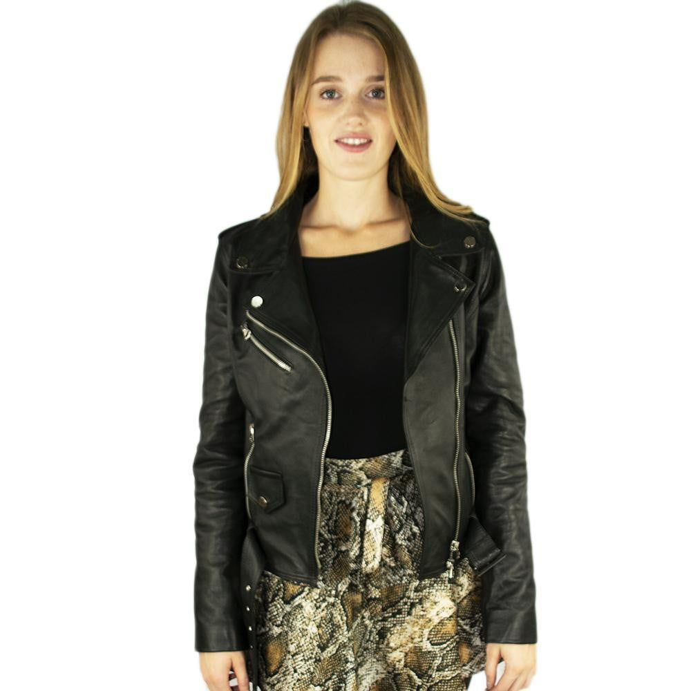 Jacket in Real Leather (Black or Brown Nail)