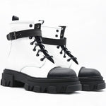Load image into Gallery viewer, OFF 1029 Low Boot in White & Black.