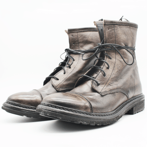 TR1005 Low Boot in washed grey.