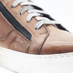 Load image into Gallery viewer, RAF80171 Brown washed sneaker+ double zip - WAYART