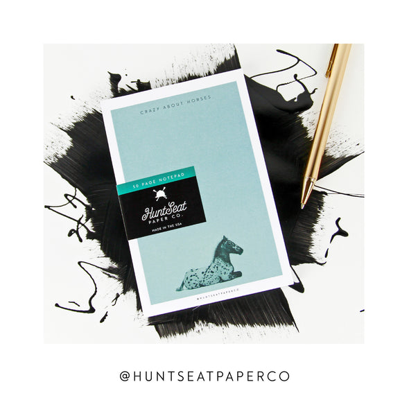 Hunt Seat Paper Co Crazy About Horses Notepad