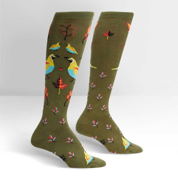 Sock it to Me Knee Socks Well Quail-ified
