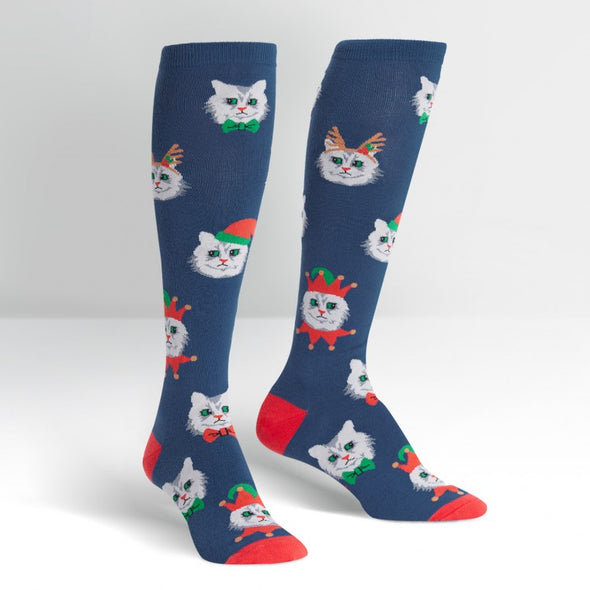Sock it to Me Knee Socks Santa Claws