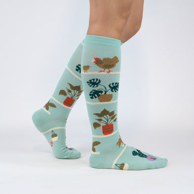 Sock It To Me Knee High Socks Hen and Chicks