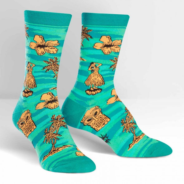 Sock it to Me Crew Socks Tiki Toes