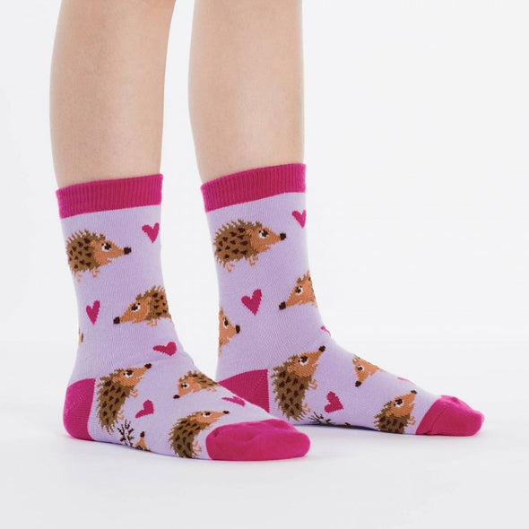Sock It To Me Junior Crew Socks Hedgehog Heaven