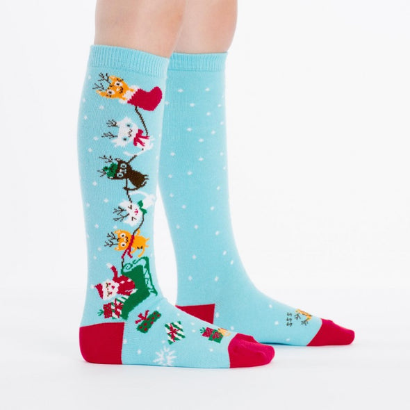 Sock It To Me Knee Socks Jingle Cats