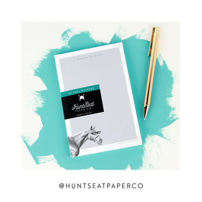 Hunt Seat Paper Co Zero Bucks Notepad