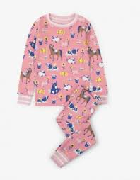 Hatley Girls Farm Friends PJ Set
