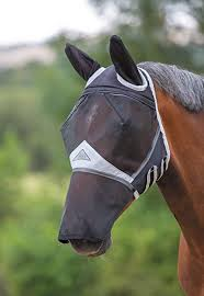 Shires Full Face Fly Mask Zip off Nose