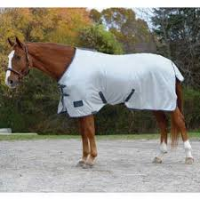 Shires Tempest Fly Sheet White/Turquoise 81""