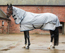 Shires Tempest Fly Sheet with Neck Silver/Navy 66""