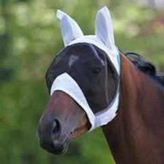 Shires Fly Mask with Ears White