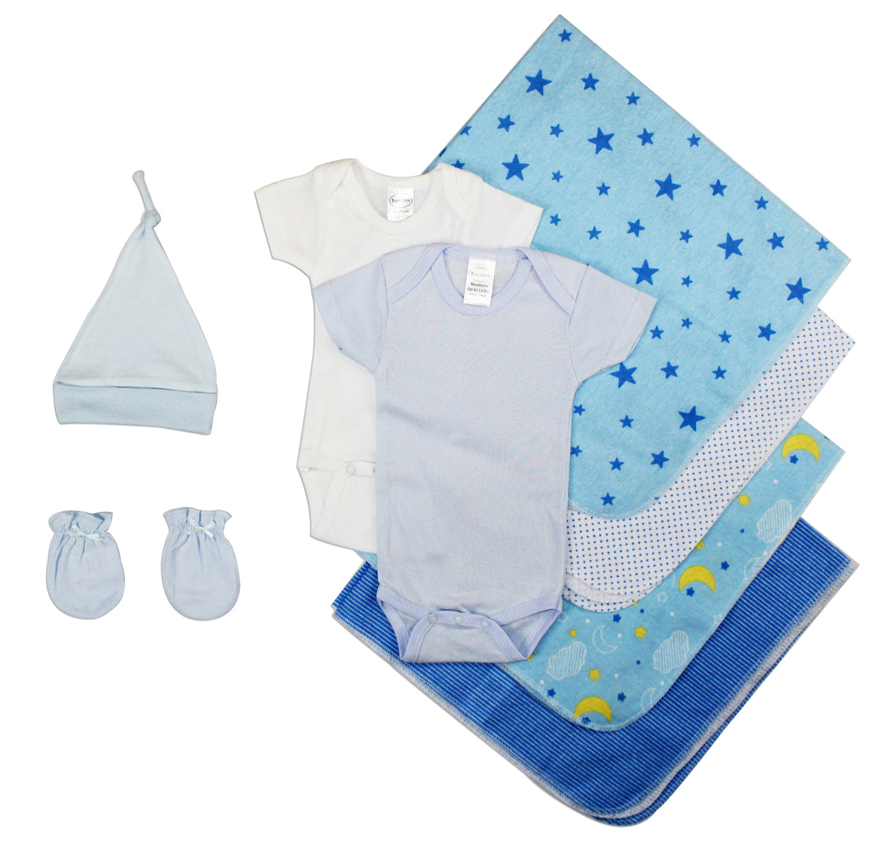 Essential Newborn Baby Boy 8 Piece Layette Set