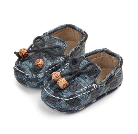 Baby Boys Blue Plaid Baby First Shoes