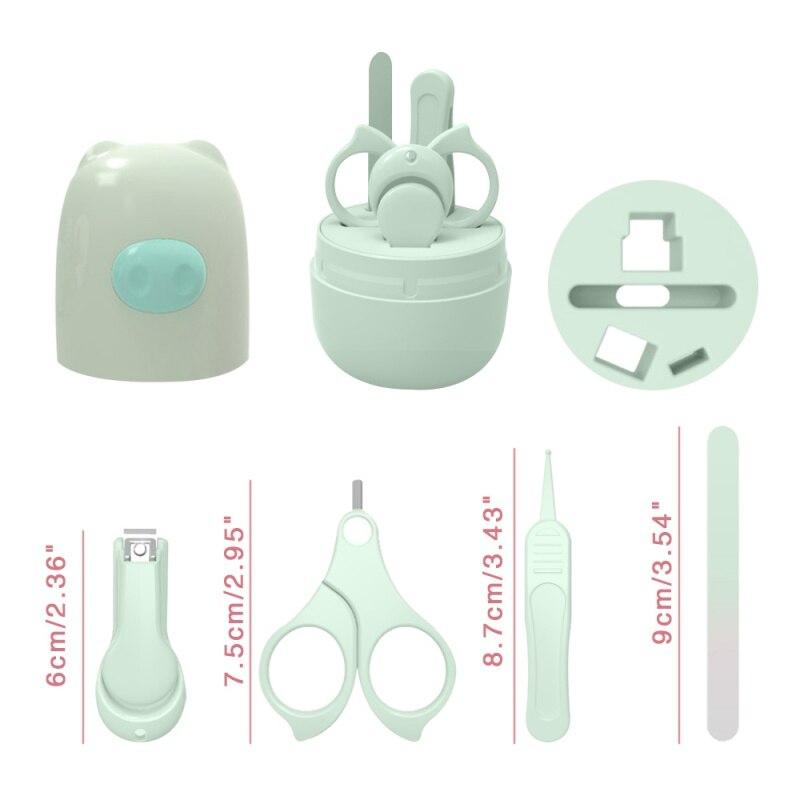 4pcs Baby Healthcare Kits Baby Nail Care Set Infant Finger Trimmer