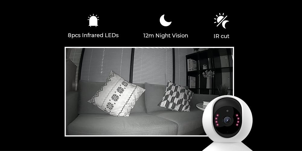 Surveillance WiFi Camera Baby Monitor 2.4G 3MP Full HD Indoor Home
