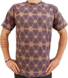 """geometry"" brown t-shirt unisex"