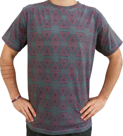 """geometry"" grün T-Shirt unisex"