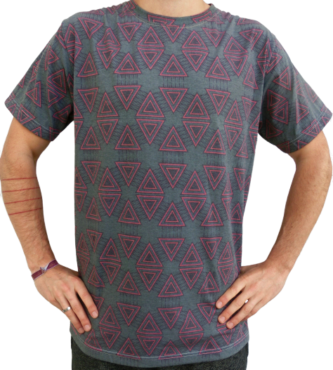 """geometry"" green t-shirt unisex"
