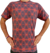 """geometry"" rust t-shirt unisex"