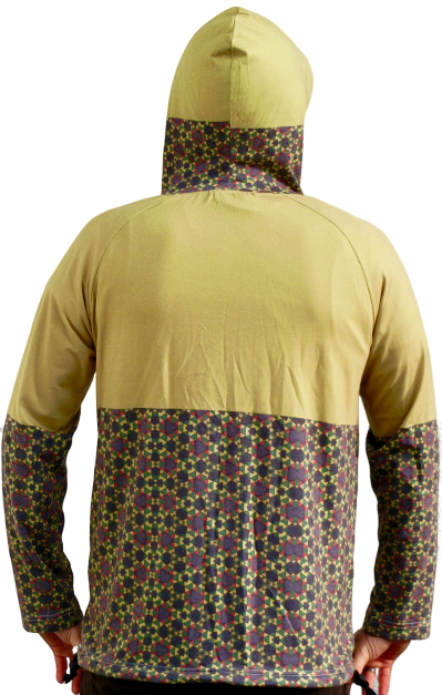 """flowers on lawn"" yellow hoodie unisex"