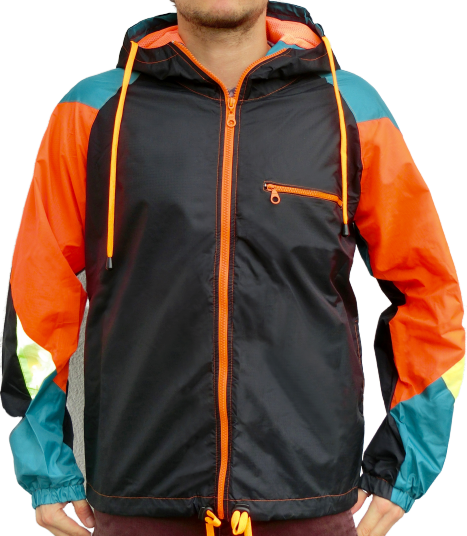 """Black Orange"" Windbreaker Jacke unisex"