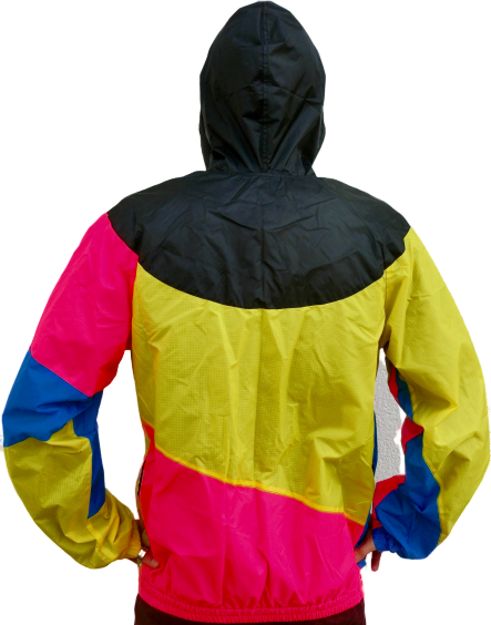"""Yellow Pink Blue"" Windbreaker Jacke unisex"