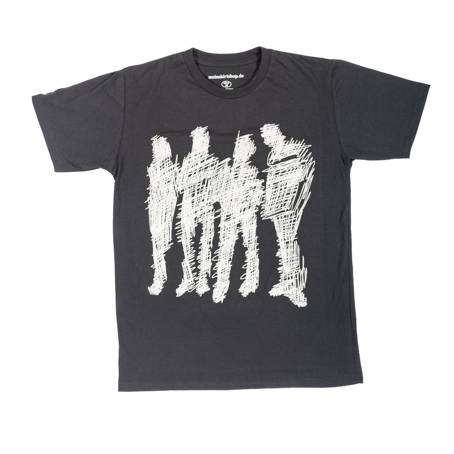 """abstract humans"" schwarz T-Shirt unisex"