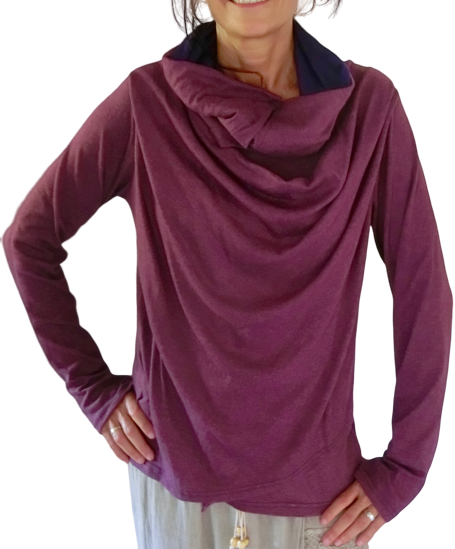 """extraordinary"" burgundy sweater unisex / unisize"