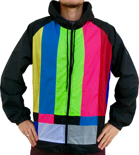 """TV stripes"" windbreaker jacket unisex"