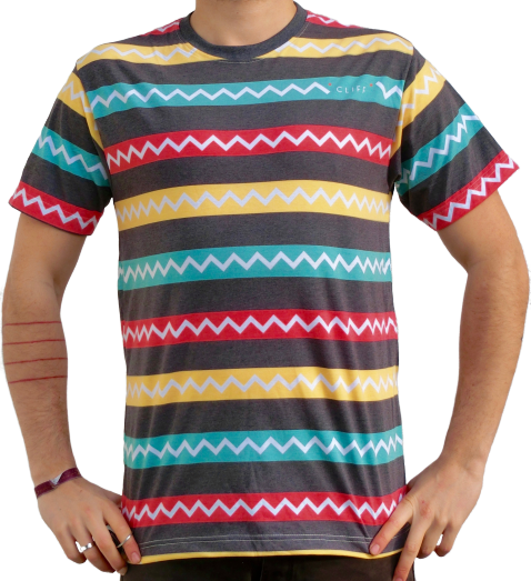 """jagged and striped"" T-Shirt unisex"