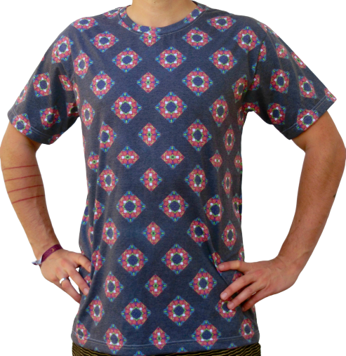 """kaleidoscope 1"" black t-shirt unisex"