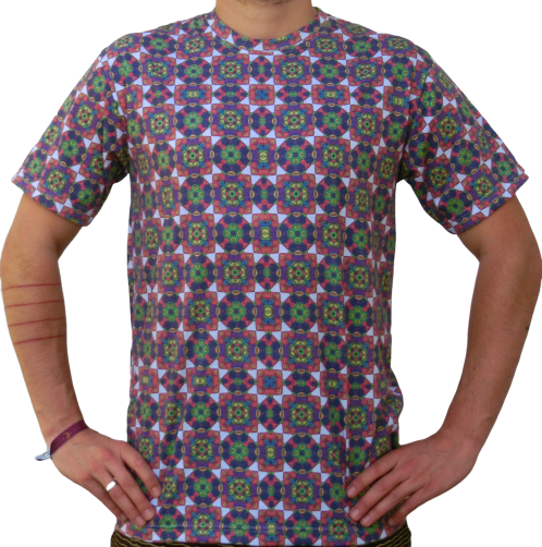 """kaleidoscope 2"" white T-Shirt unisex"