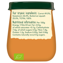 Load image into Gallery viewer, Just Carrot, Sweetcorn & Butternut Squash Jar
