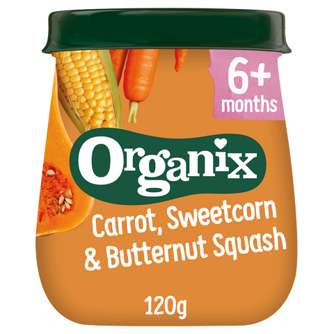 Just Carrot, Sweetcorn & Butternut Squash Jar