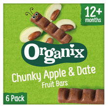 Load image into Gallery viewer, Apple & Date Chunky Fruit Bars (6 pack)