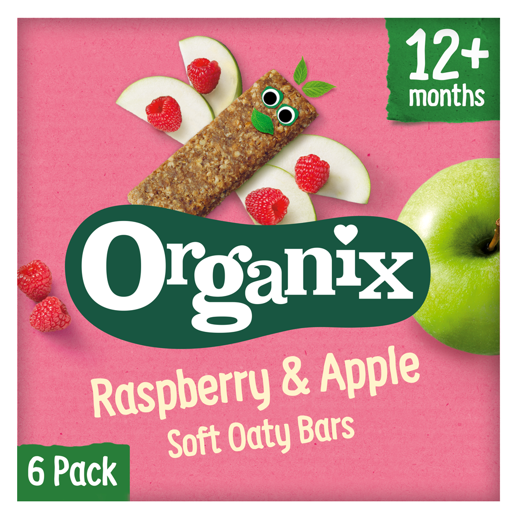 Raspberry & Apple Soft Oaty Bars (6 pack)