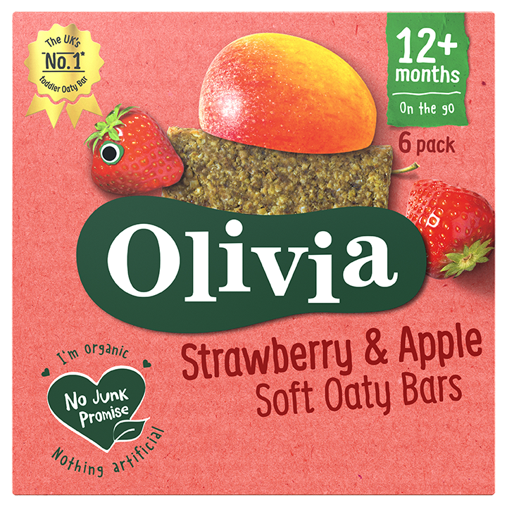 Personalised Strawberry & Apple Soft Oaty Bars