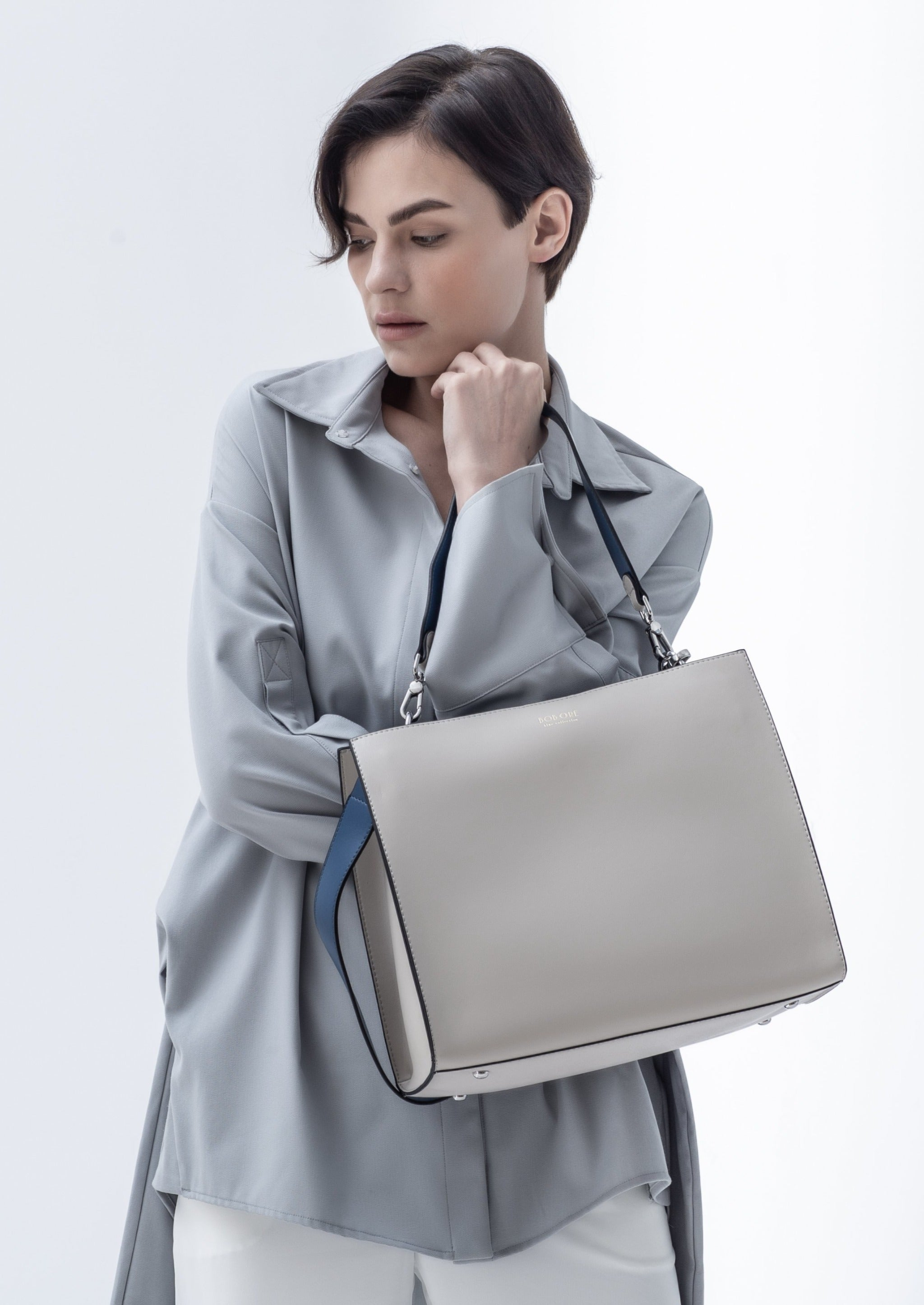 Zoe Bag in smooth leather, Beige